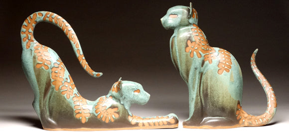 Ceramic Animal Sculptures at Mangum Pottery