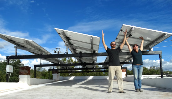PV Solar powering Mangum Pottery Studio in Weaverville, near Ashevill, NC