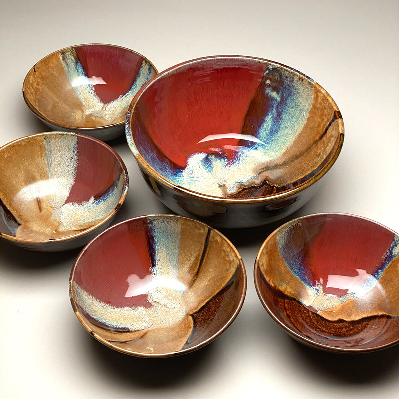 Medium Bowl Set Autumn Glaze