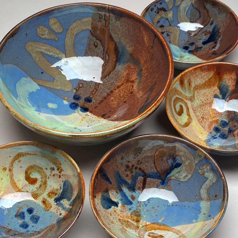 Medium Bowl Set Multi Glaze