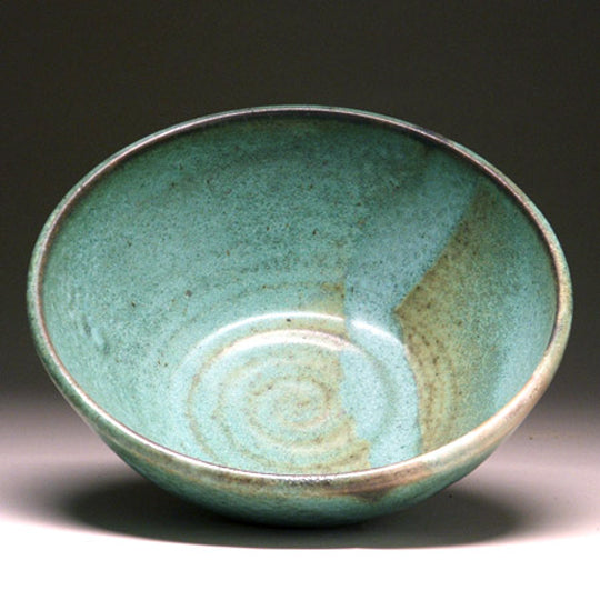Large Serving Bowl in Green Matte Glaze