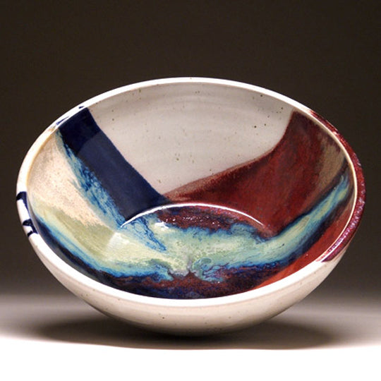 Medium Serving Bowl in Sapphire Glaze