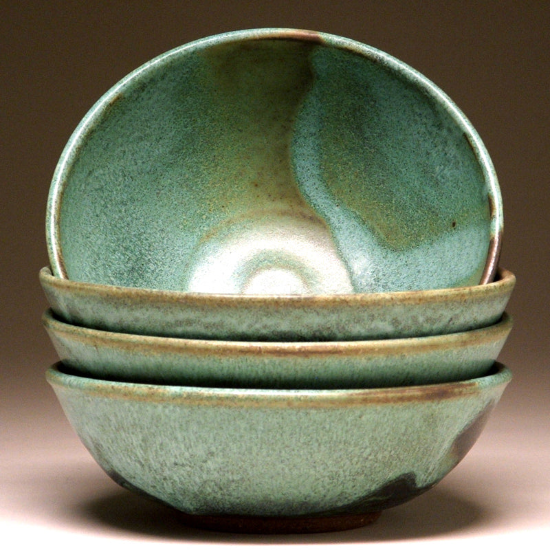 Soup Bowl in Green Matte Glaze