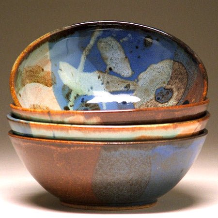 Soup Bowl in Multi Glaze