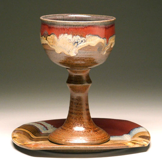 Communion Chalice And Paten By Mangum Pottery
