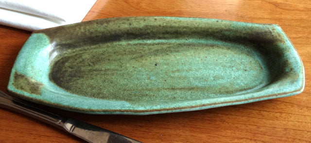 Olive tray in Green Matte Glaze