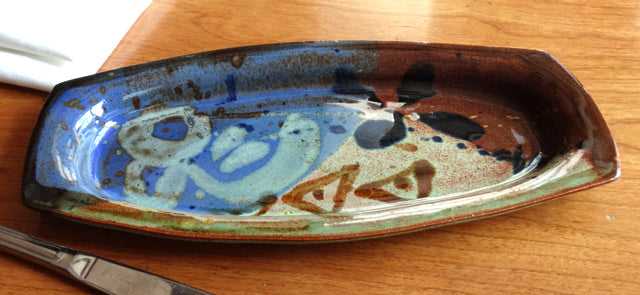 Olive tray in Multi Glaze