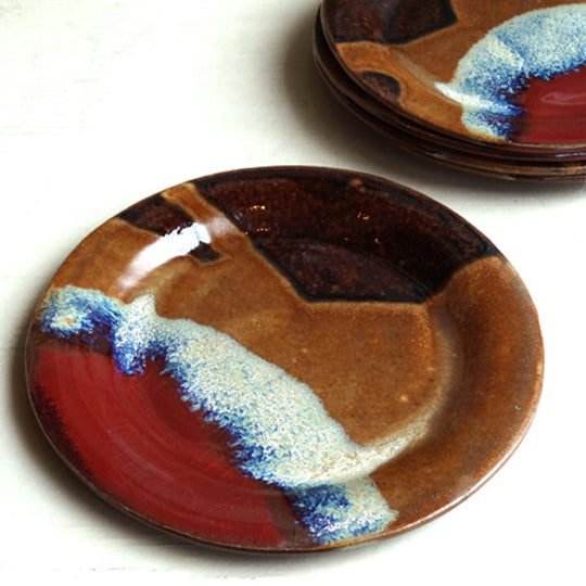 Cocktail Plate in Autumn Glaze