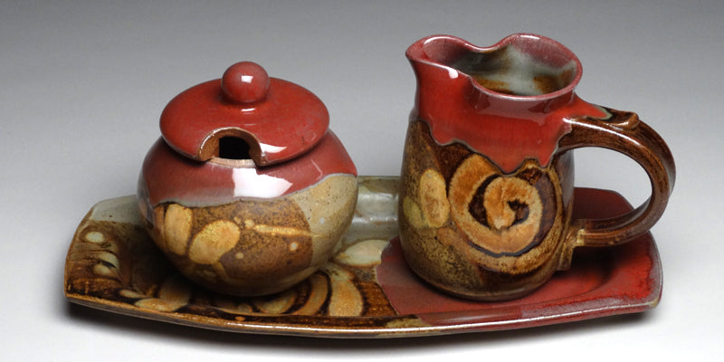 Cream and Sugar Set in Chautauqua Glaze