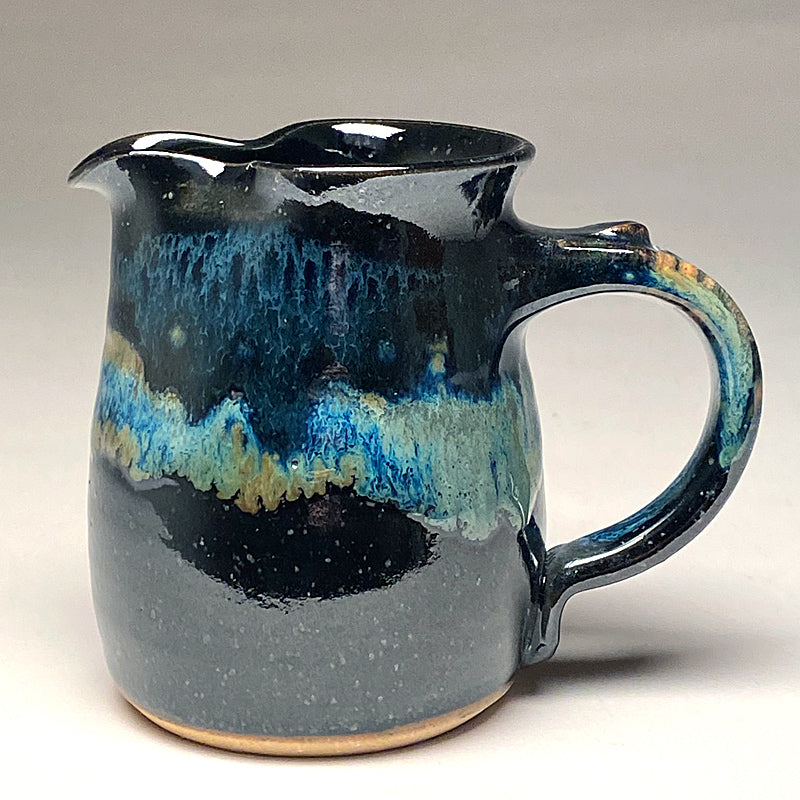 Small Pitcher in Black and Teal