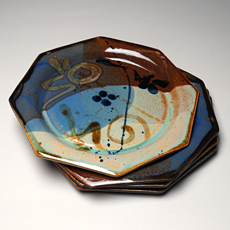 Salad Plate in Multi Glaze