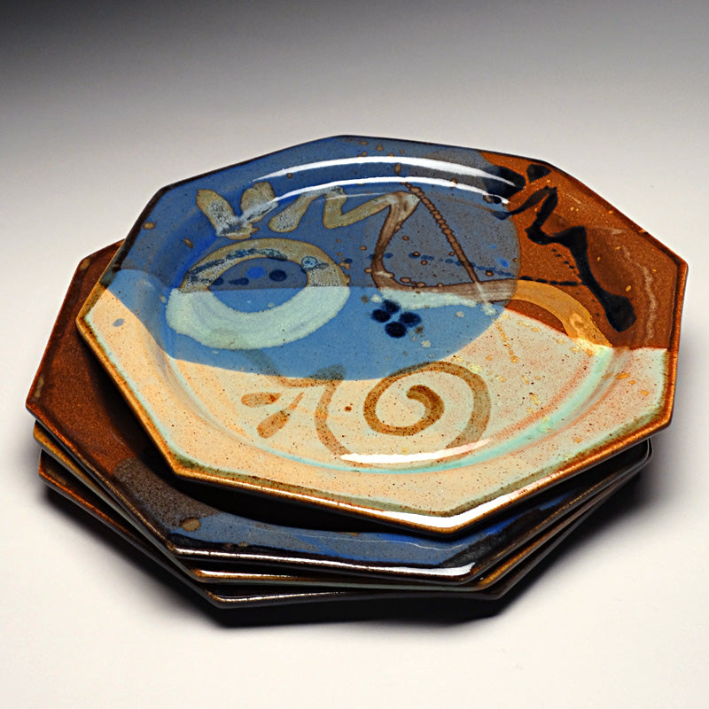 Dinner Plate in Multi Glaze