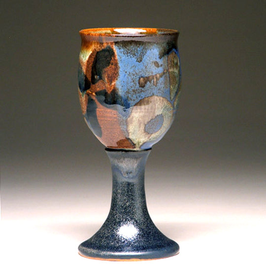 Goblet in Multi Glaze