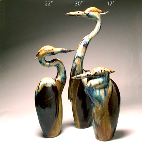 Tri Colored Heron Sculpture