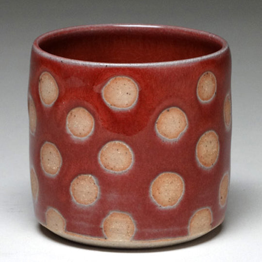 Highball Cup in Copper Red with Dot Glaze