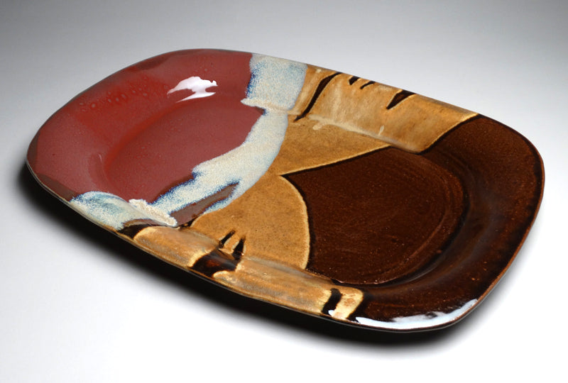 Large Serving Platter in Autumn Glaze