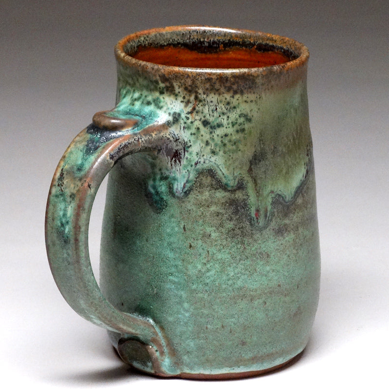 Pint Mug in Green Matte Glaze