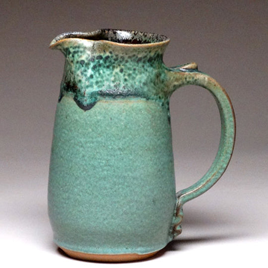 Wheelthrown Pitcher in Green Matte Glaze