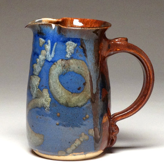 Wheelthrown Pitcher in Multi Glaze