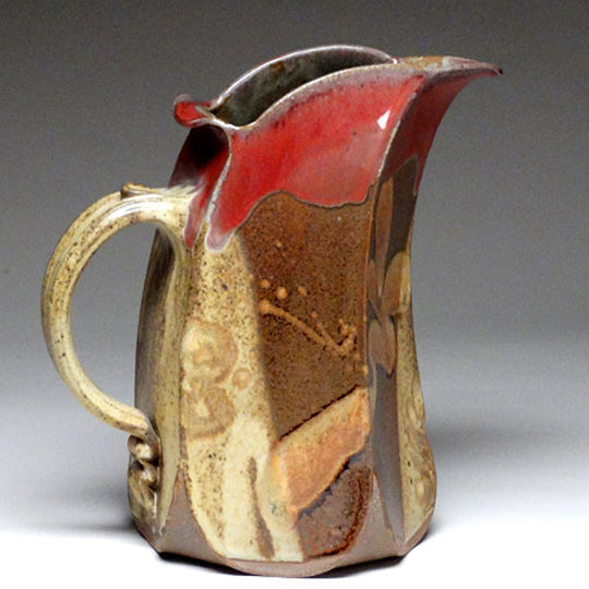 Slab Built Pitcher in Chatauqua Glaze