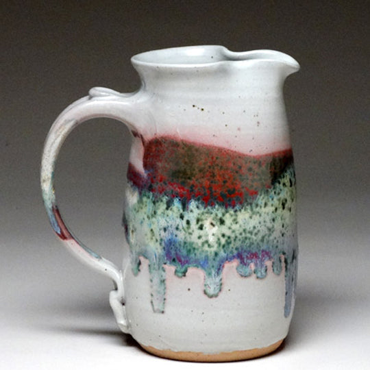 Wheelthrown Pitcher in Springtime Glaze