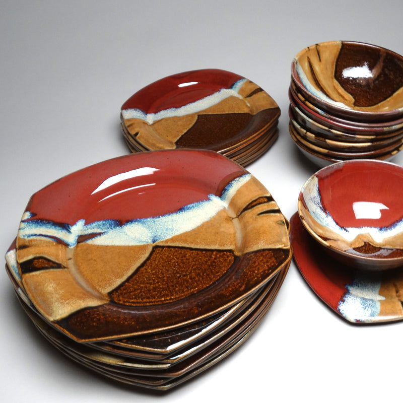 ... Dinnerware Set in Autumn Glaze & Autumn Glaze Dinnerware \u2013 Mangum Pottery