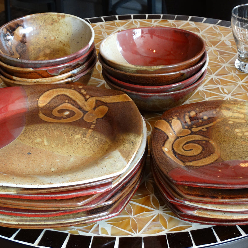 Dinnerware Set in Chautauqua Glaze