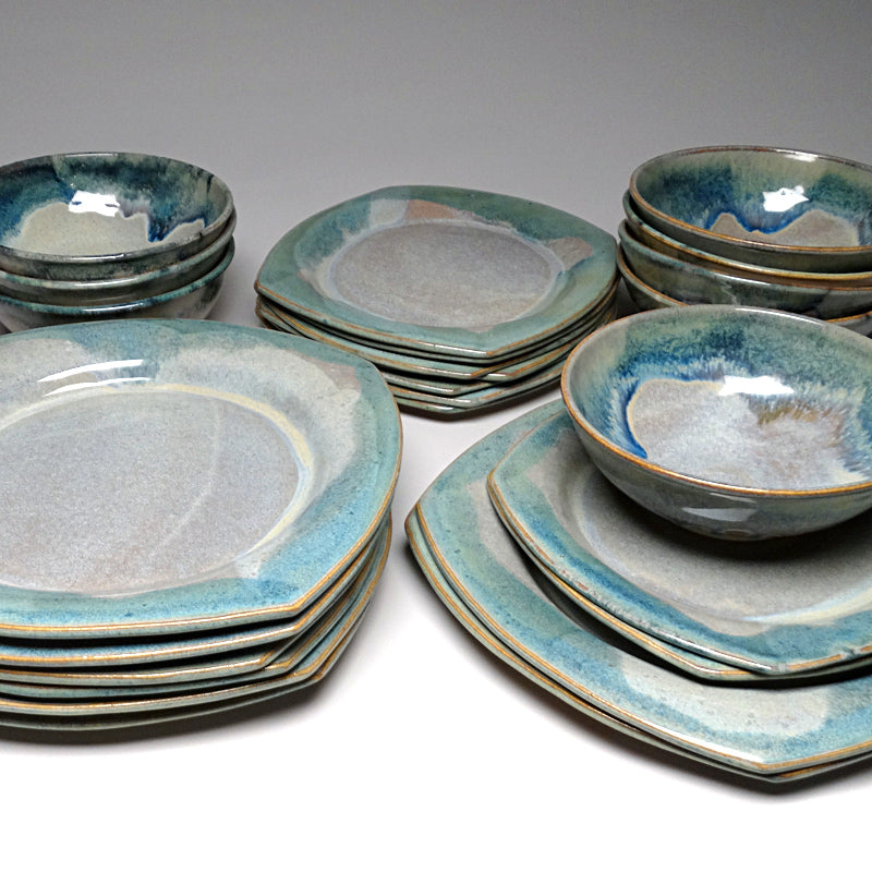 Dinnerware Set in Blue Ridge Glaze