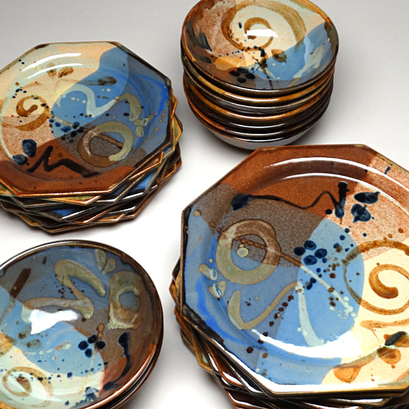 Dinnerware Set in Multi Glaze