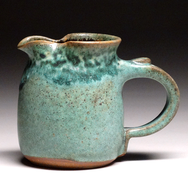 Small Pitcher in Green Matte Glaze