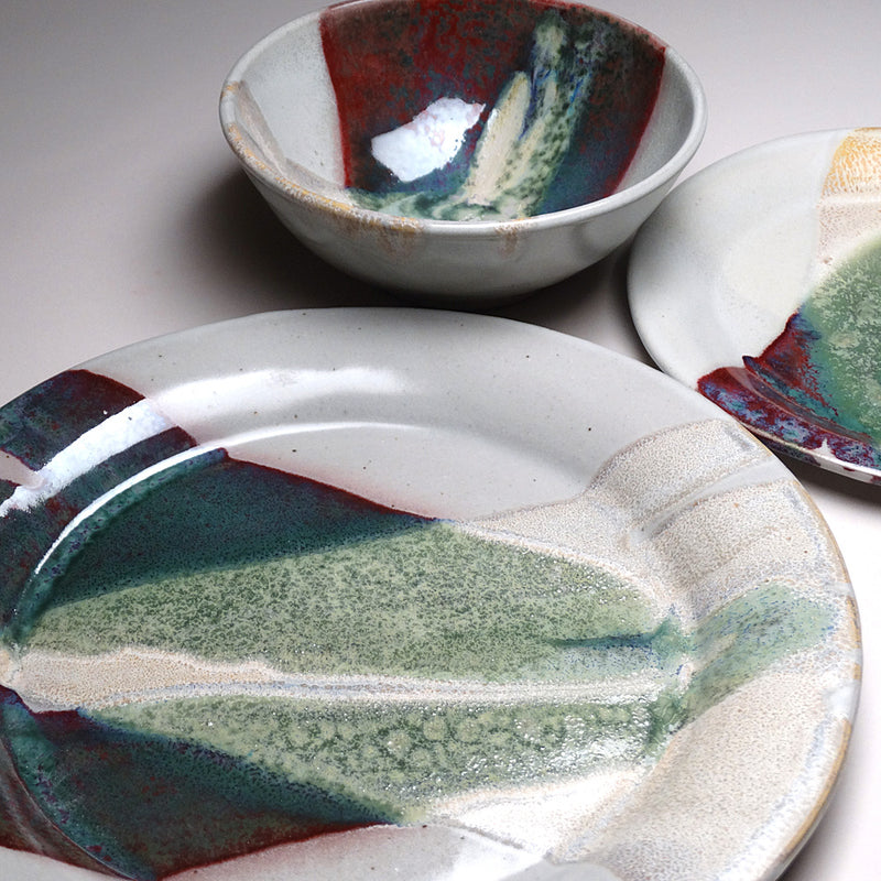 Place setting in Sprintime Glaze