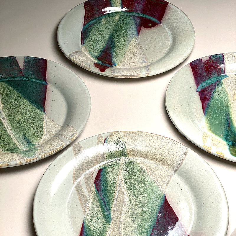 Salad plates in Sprintime Glaze