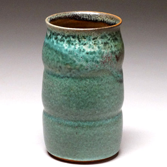 Tumbler in Green Matte Glaze
