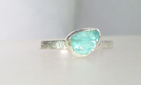 1597 Rock Face and Apatite Ring size N