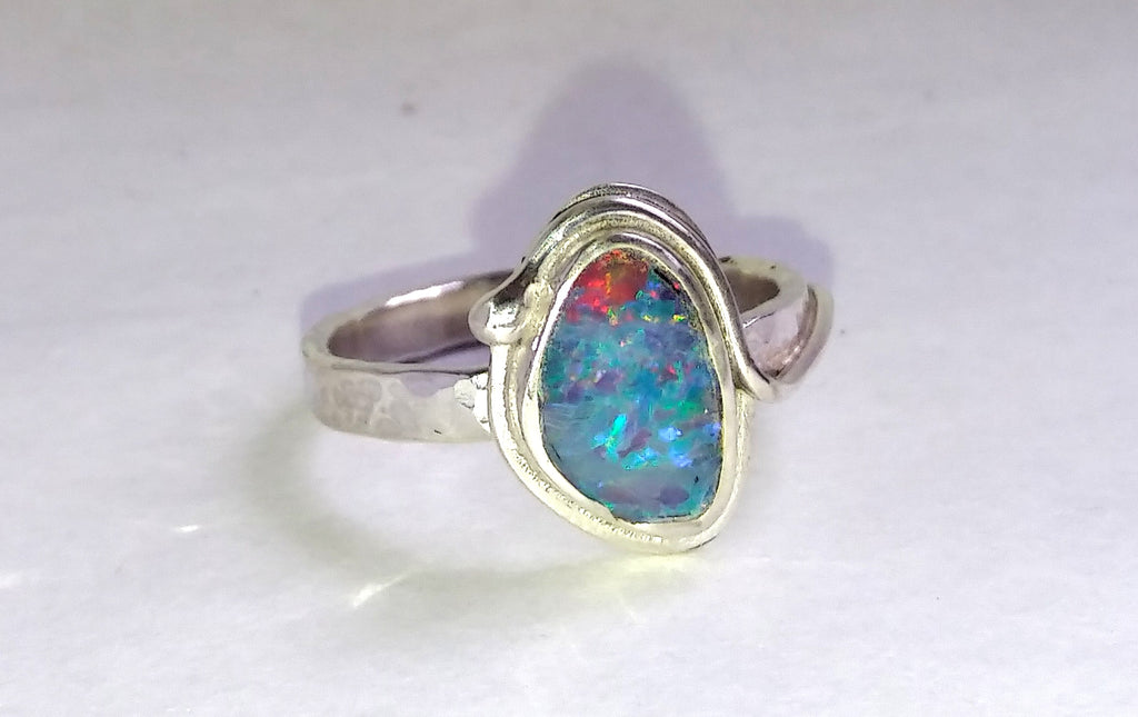 1639 Heavenly Bodies Opal Ring Size P/Q