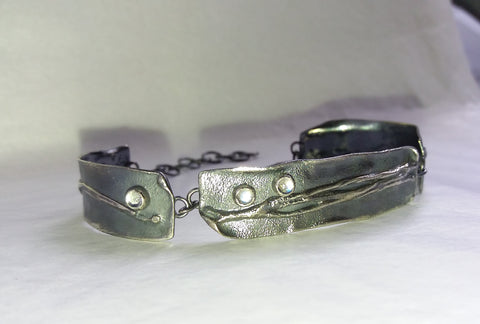 Antiqued Moonstone 3 Piece Bracelet