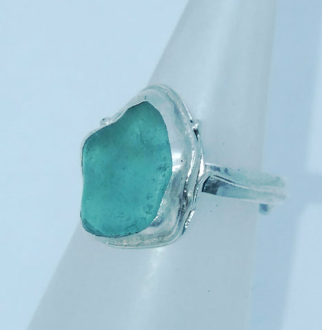 Turquoise Seaglass Ring