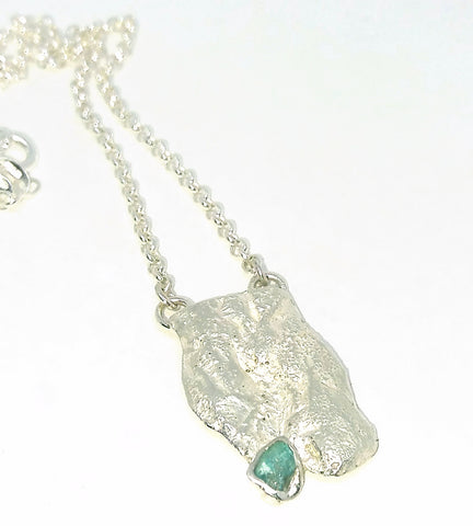 Rockface and Apatite Necklace
