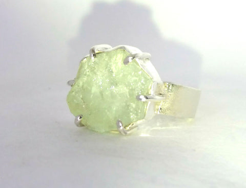 1784 Rockface and Aquamarine Ring