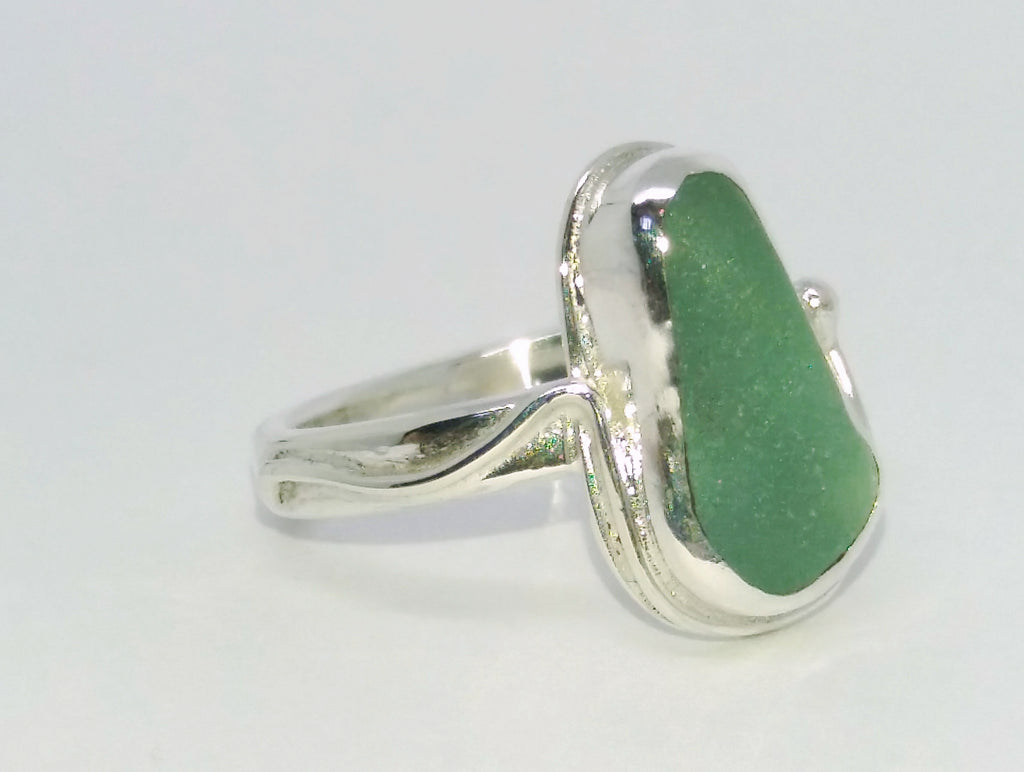 Small seaglass ring