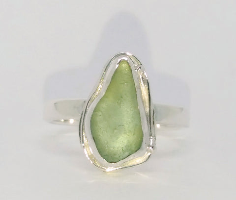 1823 Seafoam Seaglass Ring