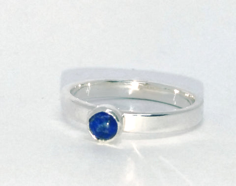 Wide Lapis Stacking Ring