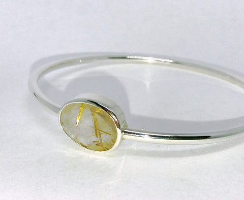 Rutilated Quartz Bangle