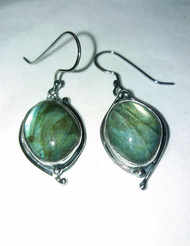 1674 Labradorite Dark Skies Earrings