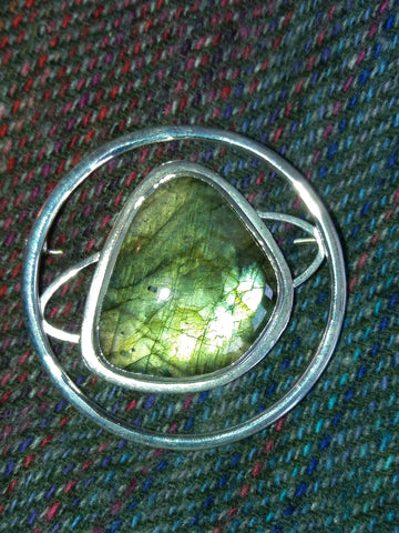 Labradorite Galaxy Brooch