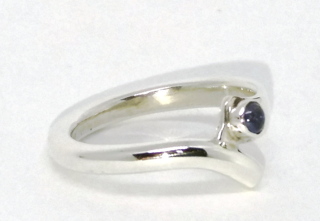 Sterling silver and Iolite wish ring