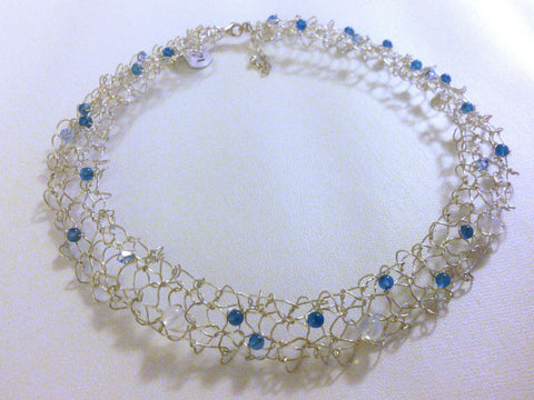 Knitted Silver Collar