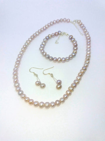 Large Peach Pearl Beads, Bracelets, Earrings