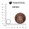 8mm tablet size chart by Phoenix Nutrition