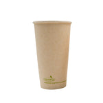 115-500-020 Hot Cup EarthPro 20oz. Compostable Natural Paper, Stock Print